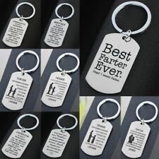 Stainless Steel Mothers Day Gifts Pendant Dog Tag Keychain Keyring Jewelry Charm