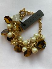 Star Pearl Cluster Bracelet~Euc J Crew Tortoise Glitter Disk