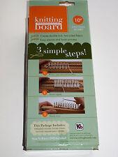 """Kb Knitting Board Loom 10"""" Hardwood Metal Pins Brand New in box w/ instructions"""
