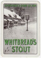 Playing Cards 1 Single Swap - Old Wide WHITBREAD'S Brewery STOUT Beer WINTER PUB