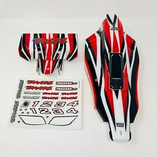 Traxxas Bandit - Red/White BodyShell Body shell Rear Wing Decals - XL-5 - VXL