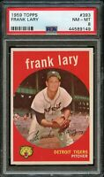 1959 Topps BB Card #393 Frank Lary Detroit Tigers PSA NM-MT 8 !!!