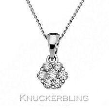 9 Carat Cluster White Gold Fine Necklaces & Pendants