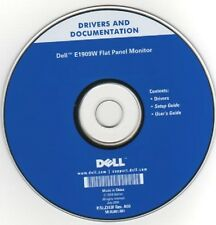 Dell E1909W Monitor Drivers, Setup & Users Guide CD - New/Sealed