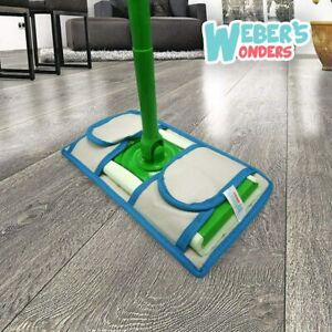 Set Of 4 Microfiber Mop Pads - Washable Reusable Durable - Works With Swiffer