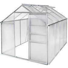 Serre de jardin aluminium polycarbonate tente abri légume plante 250x190x195cm