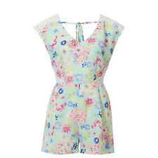 Stunning Ladies Floral & Lace Playsuit Size 12