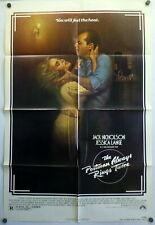 Film Noir Postman Always Rings Twice ORIGINAL 1981 Poster Nicholson Lange