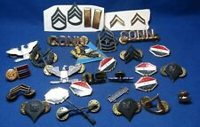 Vietnam War Army Officer & Chevron Insignia, Keep 'Em Flying Pins Lot Of 31
