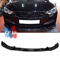 Front Bumper Lip Lower Spoiler For BMW F80 F82 F83 M3 M4 2014-2020 Carbon Fiber