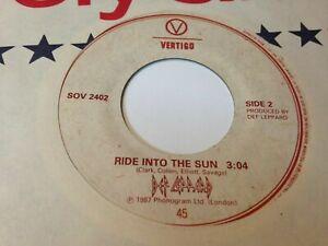 "DEF LEPPARD 45 "" Hysteria / Ride Into The Sun "" VERTIGO Canada 1987'"