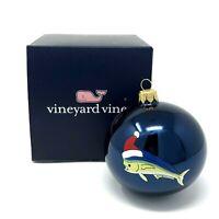 Vineyard Vines Mahi Fish Santa Hat Ball Globe Christmas Ornament 2017 New in Box