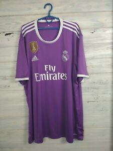 Real Madrid Jersey 2016 2017 Away XXL Shirt Football Soccer Adidas AI5158