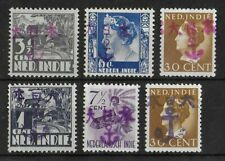 JAPANESE OCCUPATION NETHERLANDS INDIES Mint NH/LH Set of 6 Stamps Unchecked