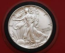 1988 American Argento 1 oz LIBERTY Eagle $1 UN DOLLARO medaglia