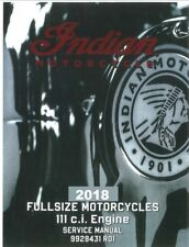 Indian 2018 Roadmaster / Classic / Elite service manual in binder