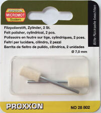 Proxxon 2 x micro felt polishers cylindrical shape 28802 / Direct from RDGTools