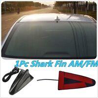Universal Auto Roof Radio AM/FM Signal Booster Shark Fin Aerial Antenna Black