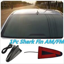 Universal Auto Roof Radio AM/FM Signal Booster Shark Fin Aerial Antenna Black