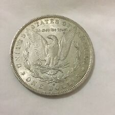 1883 United States Morgan Silver Dollar Coin (90% silver) Genuine Condition