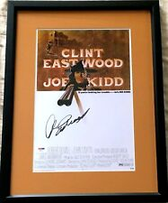 Clint Eastwood signed auto Joe Kidd movie poster print matted & framed (PSA/DNA)
