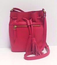 Fossil Satchel Medium TSL Leather Drawstring Handbag (Pomegranate)