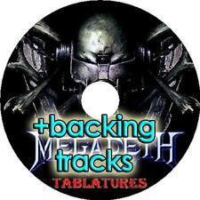 MEGADETH BASS & GUITAR TAB CD TABLATURE + BACKING TRACKS ROCK METAL MUSIC