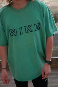 Vintage 90's Nike Big Spell Out Logo T-Shirt Top Tee Oversized Mens XXL USA