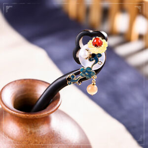 Chinese Classical Lucky Safety Ebony Hairpin Hair Stick Step Shake Accessory