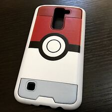 For LG K7 / Tribute 5 / Treasure - Hybrid Armor Case Cover Red Pokemon Pokeball