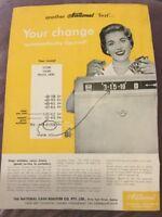 National Cash Register Co. Advertisement - Australia  - 1957