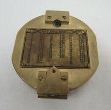 Vintage Stanley London Natural Sine Brass Nautical Compass - WAR P14