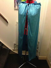cape cloak 148cm light blue  elsa  crushed velvet adult