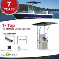 Oceansouth Boat T-top for Standard Center Console Boat Black (Size 1)
