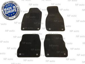 NEW LHD FULL SET AUDI A6/C5 97-04 BLACK TAILORED CAR FLOOR MATS VELOUR CARPET