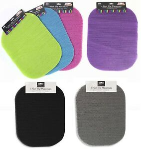4 x Anti Non Slip Place Mat Mats For Dinner Plate Lap Tray High Chair Table New
