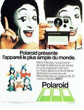 Publicité Advertising 057  1978   Polaroid appareil photo SX-70 Mime Marceau  2