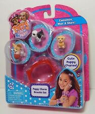 Puppy In My Pocket 3 Charms Puppies & Puppy Charm Bracelet Set A