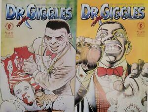 Dr. Giggles Comic Lot (2) #1 & #2 NM+ Dark Horse Comics,1992 Movie Beautiful Lot