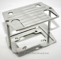 Optima 75/25 Ball Milled Aluminum Battery Hold Down Tray Group 75 35 Red Yellow