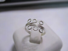 Gorgeous 3 wire Sterling Silver Toe Ring 6 loops adjustable toe ring solid 925