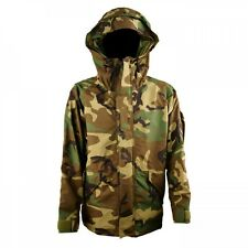 New ECWCS GORE-TEX WATERPROOF JACKET BDU WOODLAND CAMO PARKA COLD WEATHER Large