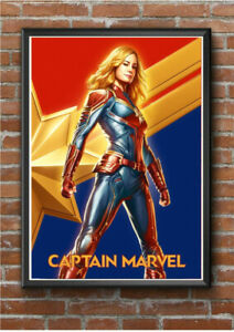 CAPTAIN MARVEL A4 Size Glossy Poster Print Vintage Marvel Movie Cinema Posters