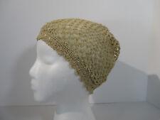 Crochet Cap Boho Hat Antique Sleeping Bonnet Lined Victorian Costume Reinactment