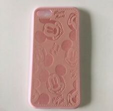NEW iPhone 7 Mickey Mouse Leather Look Phone Case - Pink