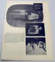 1949 Magazine Photo Nash Airflyte 4-Door Sedan with Double Bed