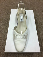 Ivory Satin Bridal Bridesmaid Wedding Shoe All Sizes  Pure & Precious FORTUNE