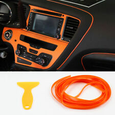 5M Car Orange Edge Flexible Panel Gap Interior Molding Trim Strip Filler Line