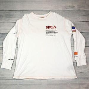Heron Preston NASA Base Layer Fall Winter 1990 White Long Sleeve Shirt Top XL