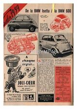 1959 DOCUMENT (ref Lim 0573)  AUTO :  BMW ISETTA  BMW 600  1 page